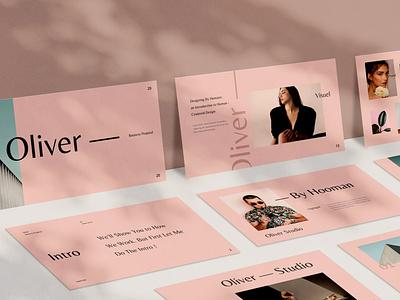 Oliver minimal shop events blog donation web maintance web development purpose multipurpose pitch deck google slides presentation vector keynote powerpoint graphic design branding illustration design designposter
