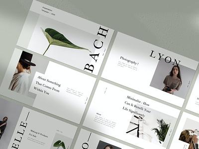 Bach template simple clean agency catalog motion graphics lookbook marketing layout portfolio business pitch deck google slides keynote powerpoint graphic design branding illustration design designposter