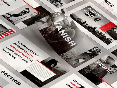Vanish apple ebook infographic catalog modern proposal web development moodboard report annual annual report template presentation keynote powerpoint graphic design branding illustration design designposter