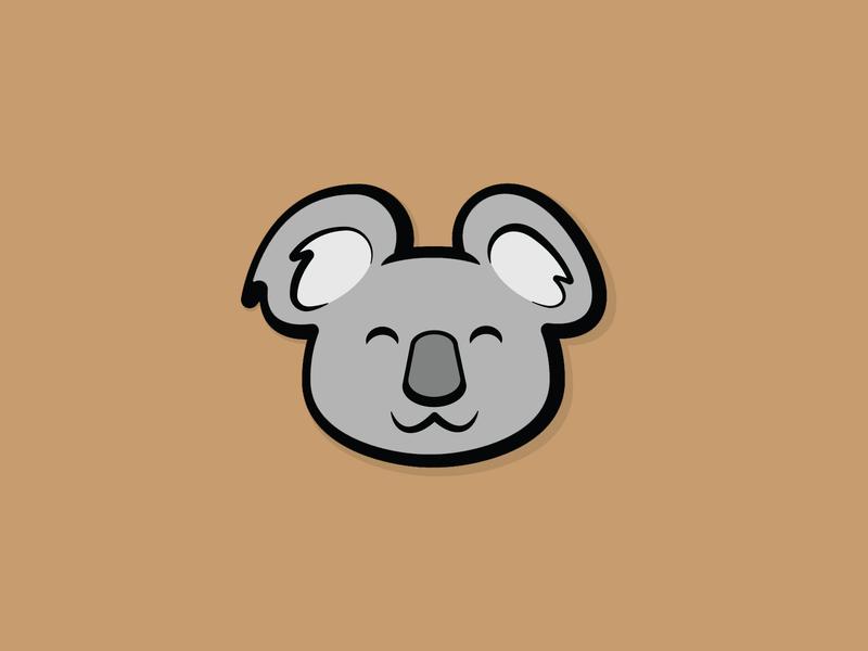 Happy Koala! symbol exploration designs design mark identity vector illustration logomark logo koala