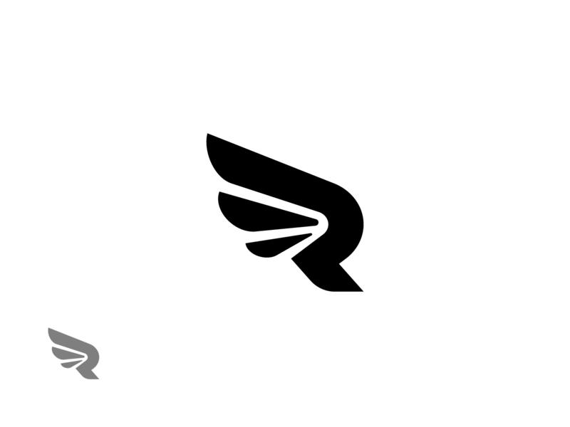 R Wing Logo Exploration. letter symbol identity mark brand logos r logo r letter logo wordmark monogram logo mark design logo marks logo design logo icon exploration branding brand identity design brand identity