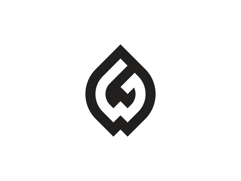 Gw logo design by palle st cyer dribbble dribbble for Design lago