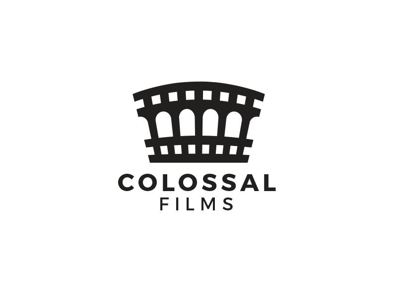 Colossal Films mark identity brand films designs design logos logo film colosseum