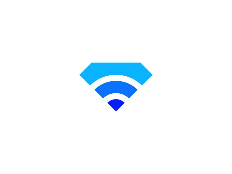 diamondConnect brand designs design logos logo connect wifi diamond