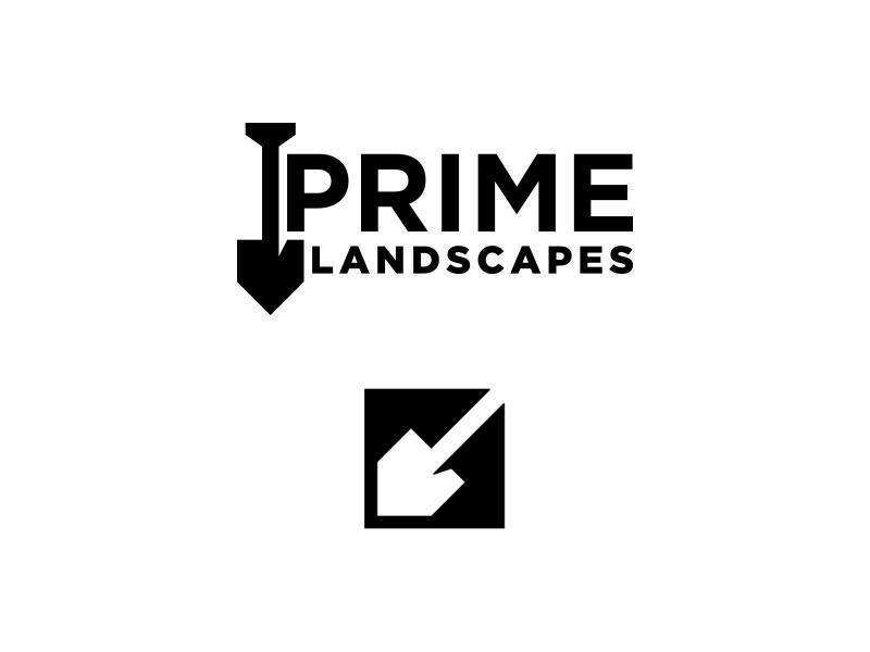 Prime Landscapes Logo brand branding symbol mark designs design logos logo landscaping landscapes prime