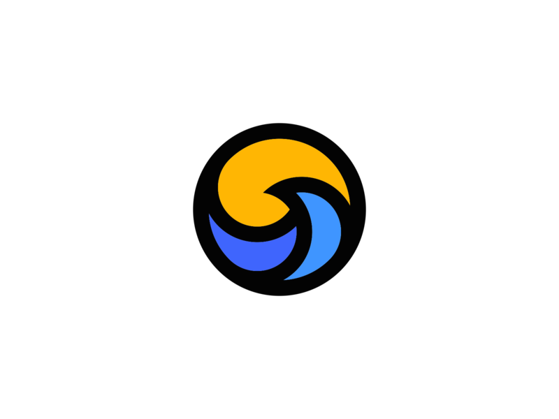 Wave Logo Design symbol identity brand water ocean waves branding simple mark designs design logos logo sun wave