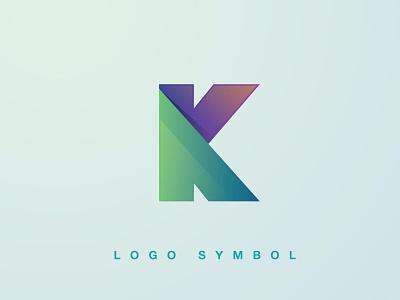 K Logo online type synthwave typography logo effect ui logo illustration abstract 3d design creative concept branding 3d letter