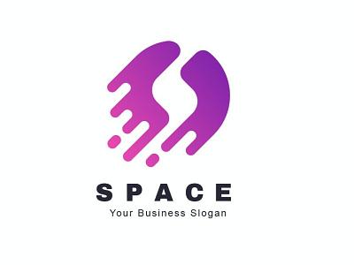 Space Color logo effect concept effect logo space color space logo logo illustration abstract 3d design creative concept branding 3d letter