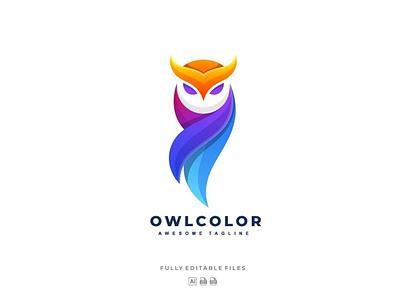 Owl Colorful Logo motion graphics graphic design 3d animation vector ui logo illustration abstract design creative concept branding 3d letter