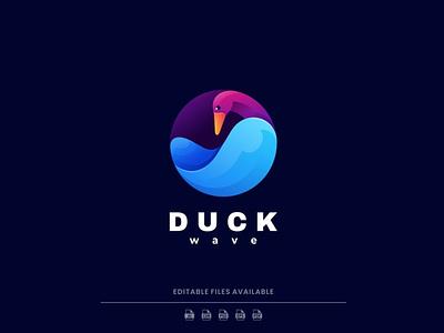Duck Gradient Colorful Logo motion graphics graphic design 3d animation ui vector logo illustration abstract design creative concept branding 3d letter gradient