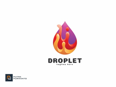 Droplet - Logo Template motion graphics graphic design 3d animation vector ui logo illustration abstract design creative concept branding 3d letter