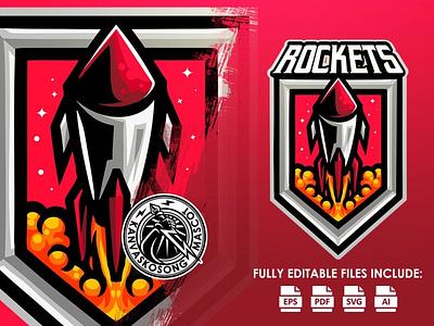 Rocket motion graphics graphic design 3d animation vector ui logo illustration abstract design creative concept branding 3d letter rocket
