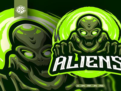 Alien Mascot Logo motion graphics graphic design 3d animation vector ui logo illustration abstract design creative concept branding 3d letter mascot
