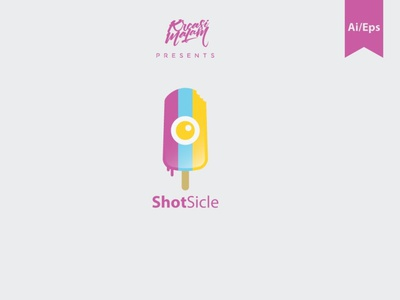 ShotSicle Logo Template colorful logo template motion graphics graphic design 3d animation vector ui logo illustration abstract design creative concept branding 3d letter