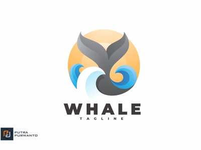 Whale Tail - Logo Template sea mockup whale motion graphics graphic design 3d animation vector ui logo illustration abstract design creative concept branding 3d letter