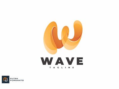 Wave Letter W - Logo Template motion graphics graphic design animation 3d vector ui logo illustration abstract design creative concept branding 3d letter wave
