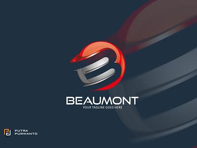 Beaumont - Logo Template motion graphics graphic design 3d animation ui vector logo illustration abstract design creative concept branding 3d letter logo template