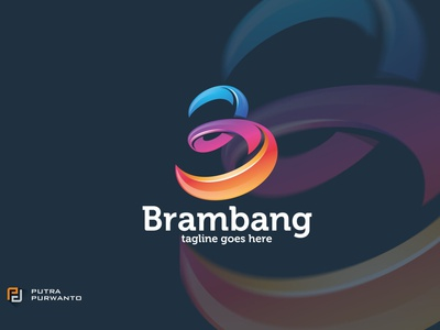 Brambang / B Letter - Logo Template synthwave typegraphic motion graphics graphic design 3d animation ui vector logo illustration abstract design creative concept branding 3d letter logo template