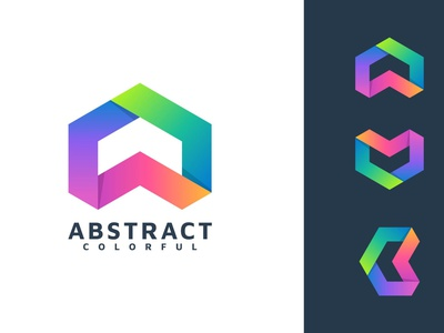 ABSTRACT LETTER COLORFUL LOGO TEMPLATE motion graphics graphic design 3d animation ui vector logo illustration design creative concept branding 3d letter letter logo abstract