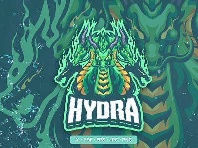 Hydra Esports and Sports mascot Logo mockup template mockup logo template motion graphics graphic design 3d animation ui vector logo illustration abstract design creative concept branding 3d letter hydra