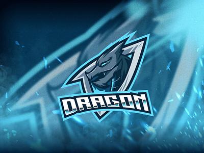 Dragon Esport Logo Template vector logo mockup dragon mockup vector motion graphics graphic design 3d animation vector ui logo illustration abstract design creative concept branding 3d letter dragon
