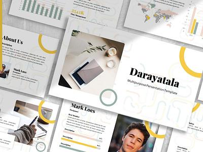 Darayatala - Business colorful modern minimal pitch deck freelancer job keynote google slides template presentation powerpoint motion graphics graphic design 3d letter abstract illustration design creative concept branding