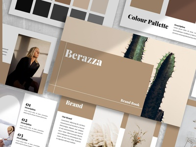 Berraza - Brandbook cataloge portfolio business powerpoint template freelancer colorful purpose multipurpose pitch deck templates google slides keynote powerpoint presentation design creative concept branding