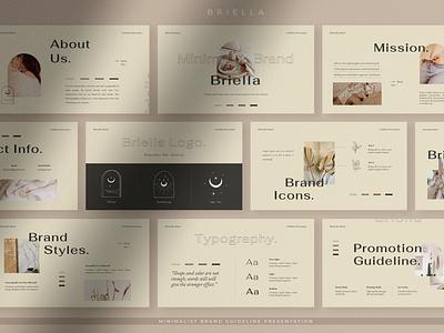 Briella moodboard fashion portfolio simple lookbook elegant corporate purpose multipurpose business slides design template pitch deck google slides keynote presentation powerpoint branding creative