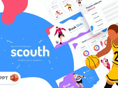 Scouth Sports Olympic gymnastic basketball football competition game athlete illustration design concept branding creative slides pitch deck google slides keynote presentation powerpoint olympic sports south