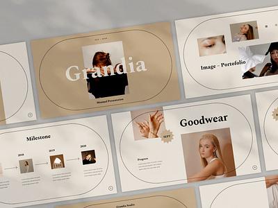 Grandia shop template pitch deck google sldies google slides keynote presentation powerpoint minimal modern abstract vector ui logo illustration design concept branding creative