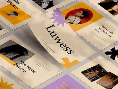 Luwess presentation keynote deck pitch pitch deck slides google keynote google slides presentation powerpoint vector ui logo 3d letter abstract illustration design concept branding creative