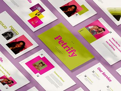 Petrify Creative Template creative keynote events purpose multipurpose keynote template powerpoint deck pitch pitch deck google slides google slides presentation abstract illustration design concept branding creative