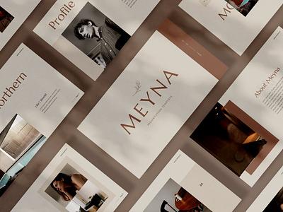 Meyna annual annual report ui vector abstract illustration design concept graphic design branding creative purpose multipurpose web development keynote template presentation powerpoint pitch deck google slides