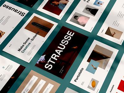Strausse marketing template presentation deck pitch pitch deck keynote template presentation ui vector powerpoint abstract illustration design concept branding creative purpose multipurpose google slides