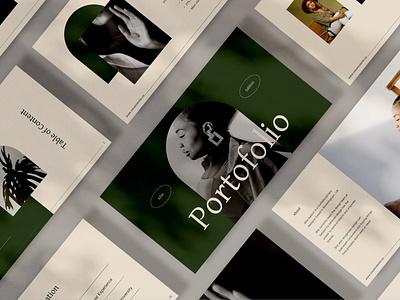 Portfolio annual report purpose multipurpose graphic design vector powerpoint abstract illustration design concept branding creative deck pitch pitch deck google slides google slides presentation portfolio