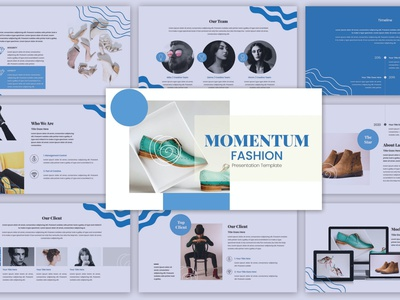 Momentum Fashion simple events blog shop web maintance web development multipurpose vector powerpoint abstract illustration design concept branding creative keynote pitch deck google slides fashion momentum