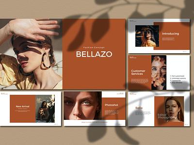 Bellazo logo corporate layout leaflet report annual annual report app blog events purpose multipurpose presnetation powerpoint abstract illustration design concept branding creative