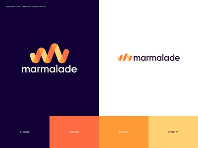 Marmalade logos and brand colours typography logo logo design design branding