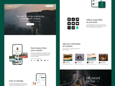Tripwell Marketing Site Design design ui logo branding