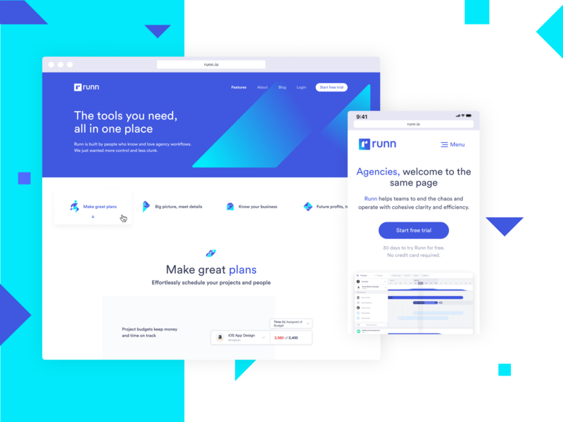 Runn web design ux design ux webdesign ui