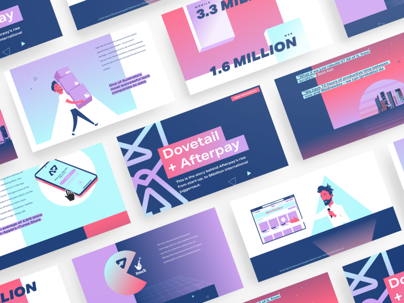 The Afterpay story. An interactive web experience interaction design interactive motiongraphics flat web responsive design design ui vector animation webdesign illustration