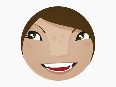 Girl icon, emoji, avatar idea thing?!