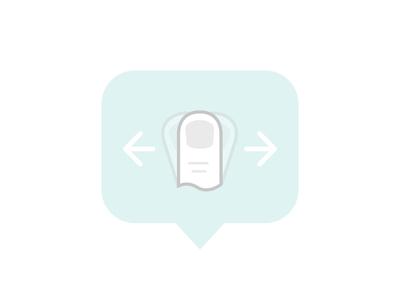 Swipe prompt icon