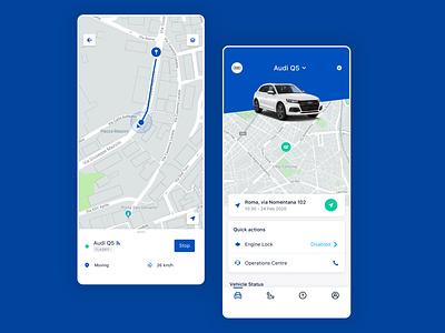 GT-Alarm panels dashboard mobile app design mobile app gps tracker mobile car cards flutter uxui uiux ui