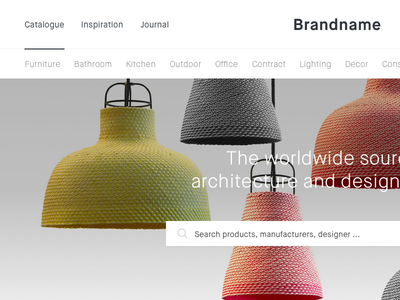Brandsite minimal cart desktop layout homepage ecommerce ui