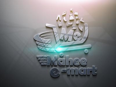 E- Market Online business Logo Design 3D vector illustration design logo ilustrator graphic design 3d
