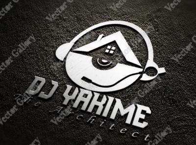 DJ Logo Design (Fiverr - Order from USA) vector illustration design logo ilustrator graphic design 3d