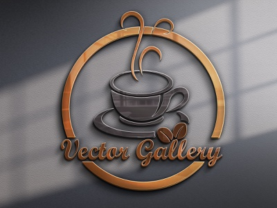 The Coffee Shop Free Logo vector illustration design logo ilustrator graphic design 3d