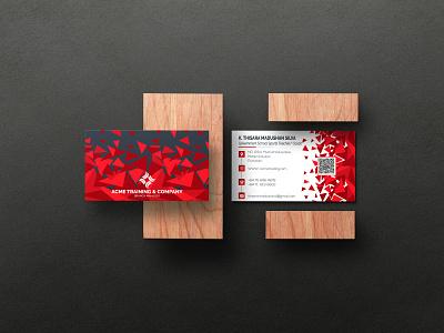Business Card (Temp 2) vector illustration design logo ilustrator graphic design 3d