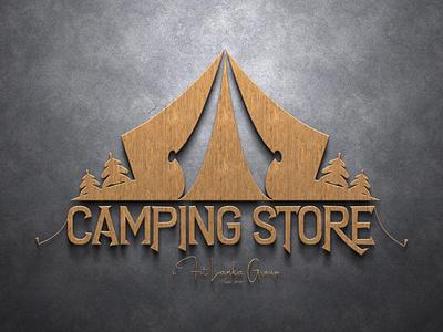 Logo For Camping Store vector illustration design logo ilustrator graphic design 3d